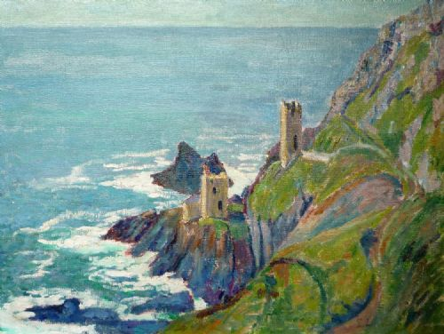 Elizabeth Lamorna Kerr Botallack Mines oil on board